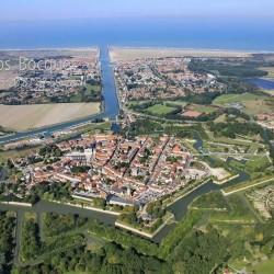 La ville fortifiée de Graveline vue du ciel