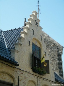 Pignon à Pas-de-Moineau - Architecture flamande