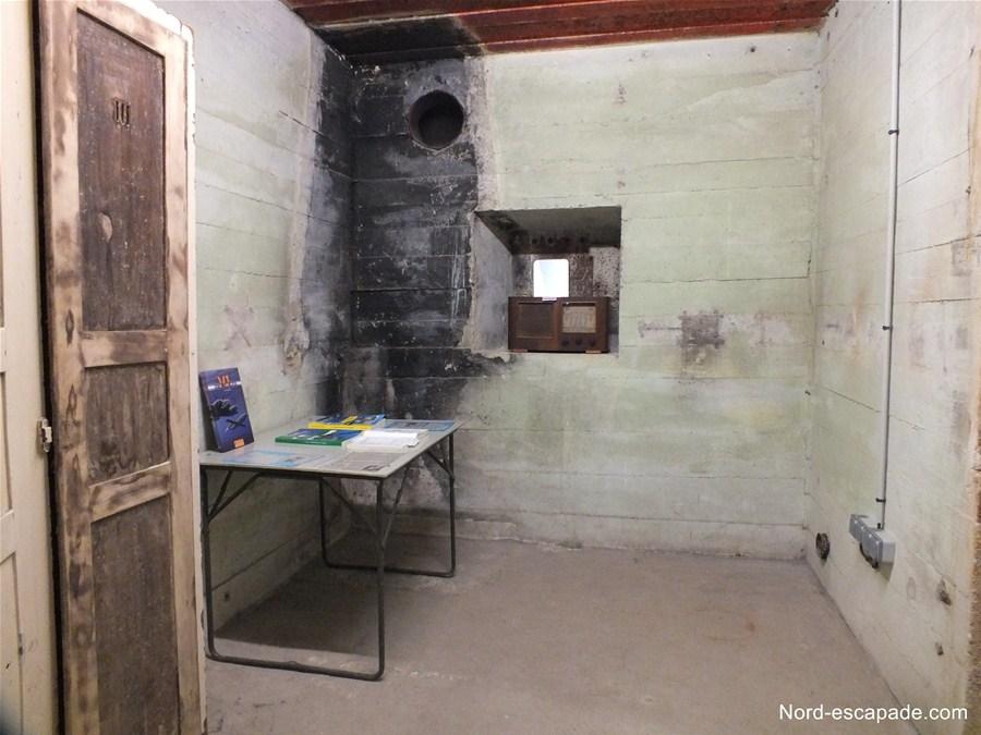Intérieur du blockhaus des madeleines de Saint-Omer.