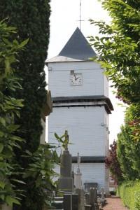 Photographie rapprochée du klockhuis d'Eecke