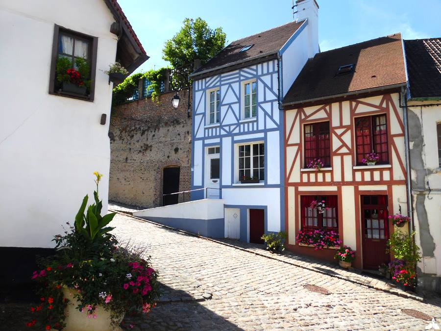Photo-image de la cavée Saint-Firmin de Montreuil-sur Mer