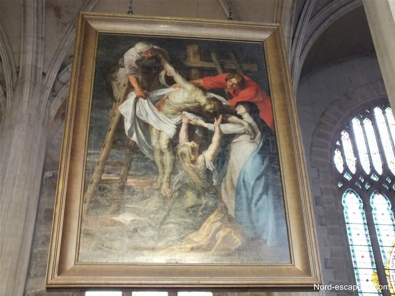 Le tableau de Rubens, exposé au sein de l'église Saint-Jean Baptiste d'Arras
