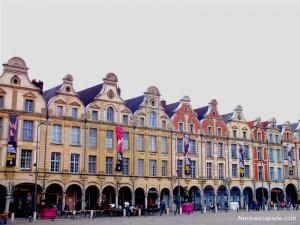 La Pignons typiques de la Grand'Place d'Arras