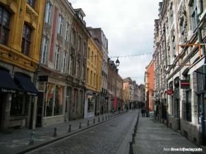 La rue de la monnaie, typique du vieux Lille