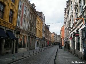 Photographie de la rue de la monnaie, dans le vieux Lille