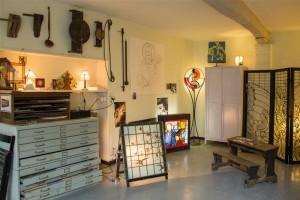 Photograzphie de l'atelier du vitrail à Terdeghem
