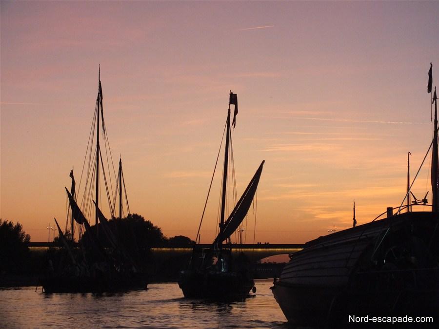 Coucher de soleil sur le fleuve royal