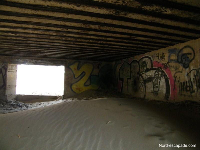A l'intérieur du blockhaus - Dune du Perroquet