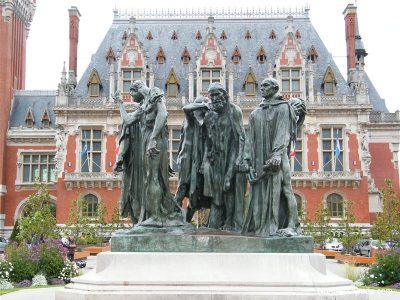 Photographie des bourgeois Calaisiens livrés au roi d'Angleterre, Oeuvre de Rhodin