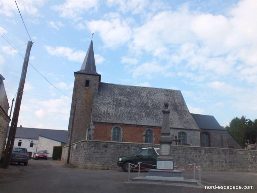 Photographie de l'église Saint-Romain d'Hestrud