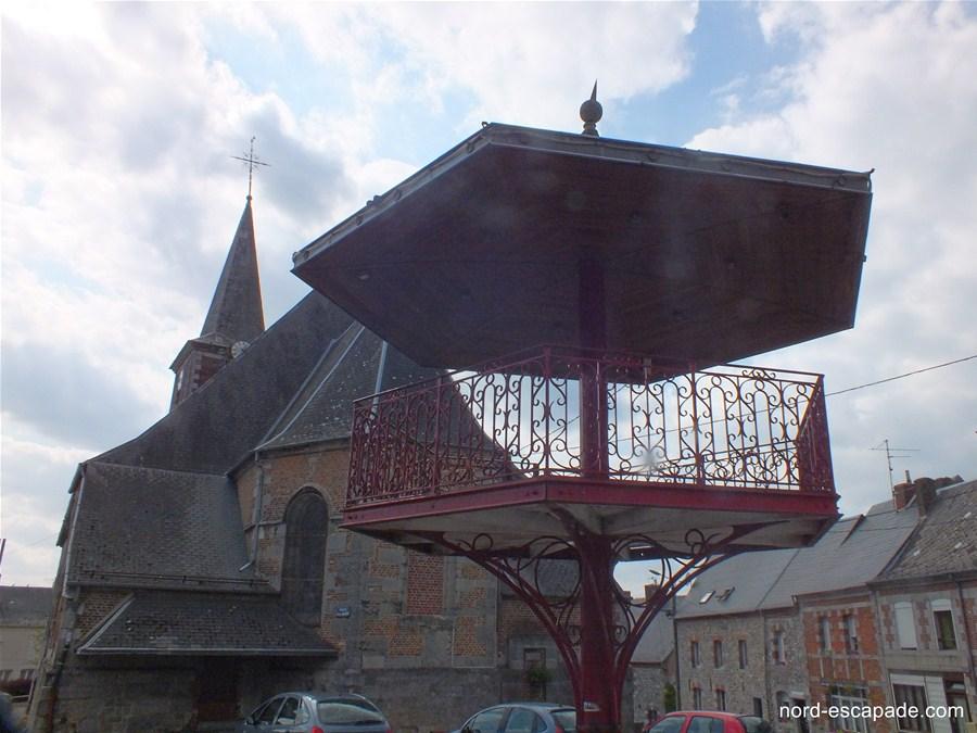 Le kiosque à danser de Trélon, typique de l'Avesnois