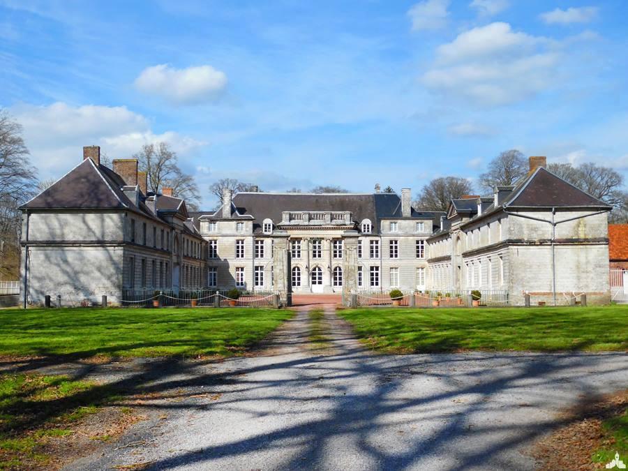 Le château de Cauroy à Berlencourt le Cauroy