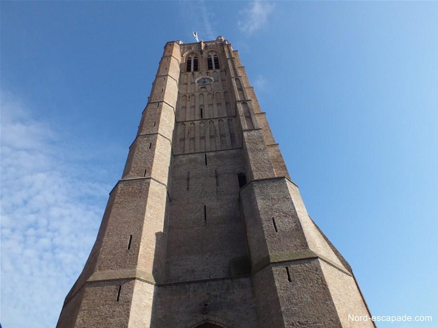 Le beffroi, ancien campanile de l'église St Eloi de Dunkerque
