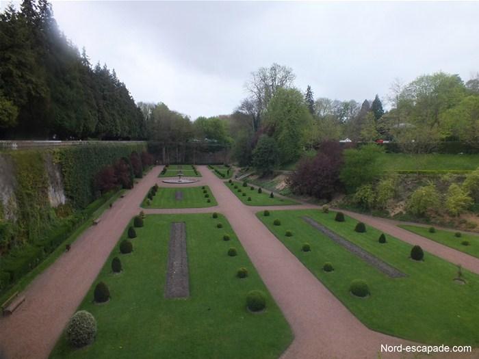 Le jardin en contrebas des remparts de Saint-Omer