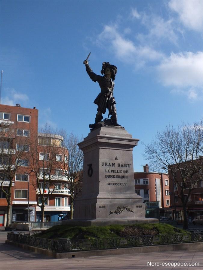 La statue de Jean Bart à Dunkerque