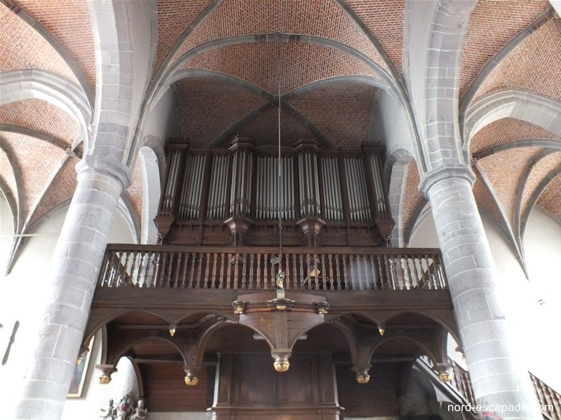 Le buffet d'orgue de la collégiale de Chimay