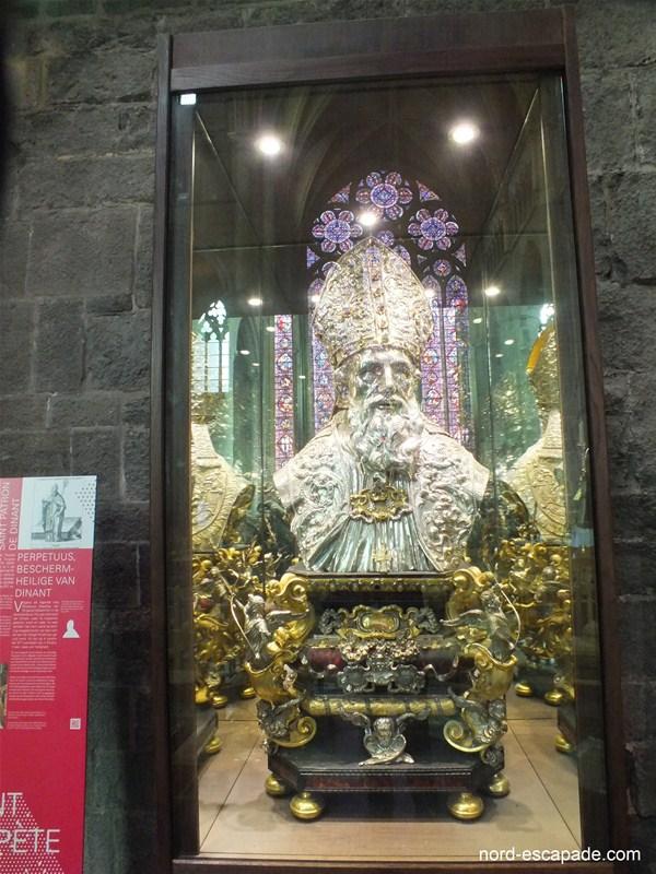 Le buste de Saint-Perpète, saint patron de Dinant