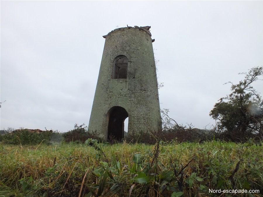 L'un des moulins du Bagard, dans le marais audomarois