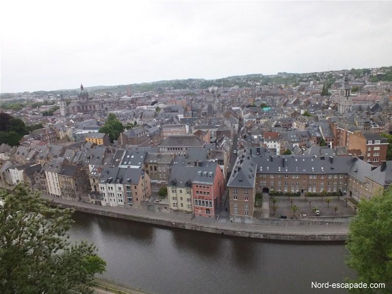 Vue de Namur, du haut de la citadelle