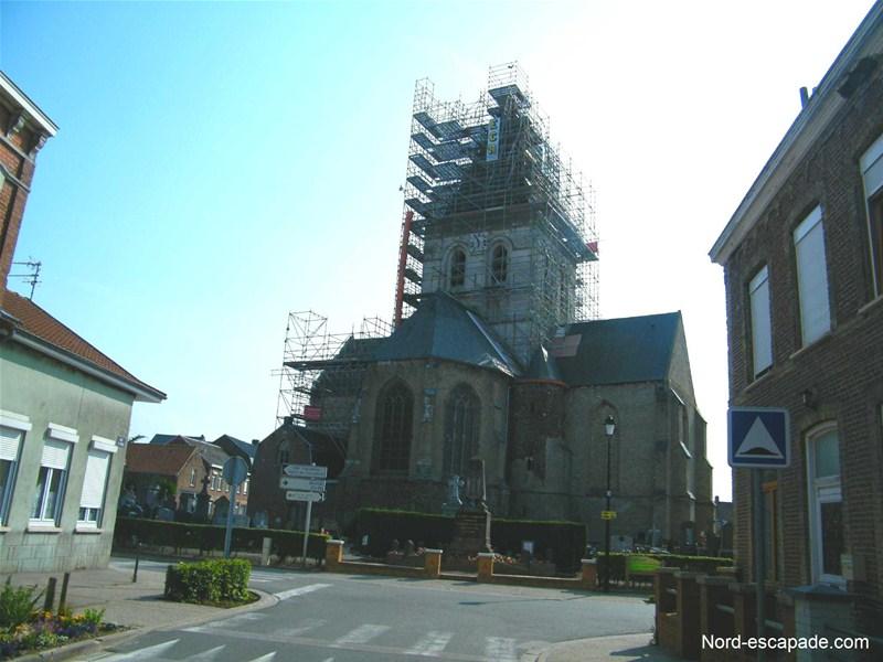 Eglise de Zgerscappel, en pleine restauration