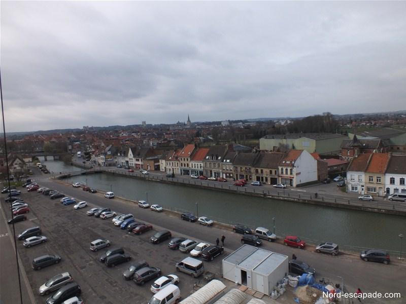 Le Haut-Pont, vu du clocher de son église