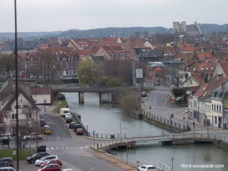 Le faubourg du Haut Pont à Saint-Omer - Bief de l'Aa