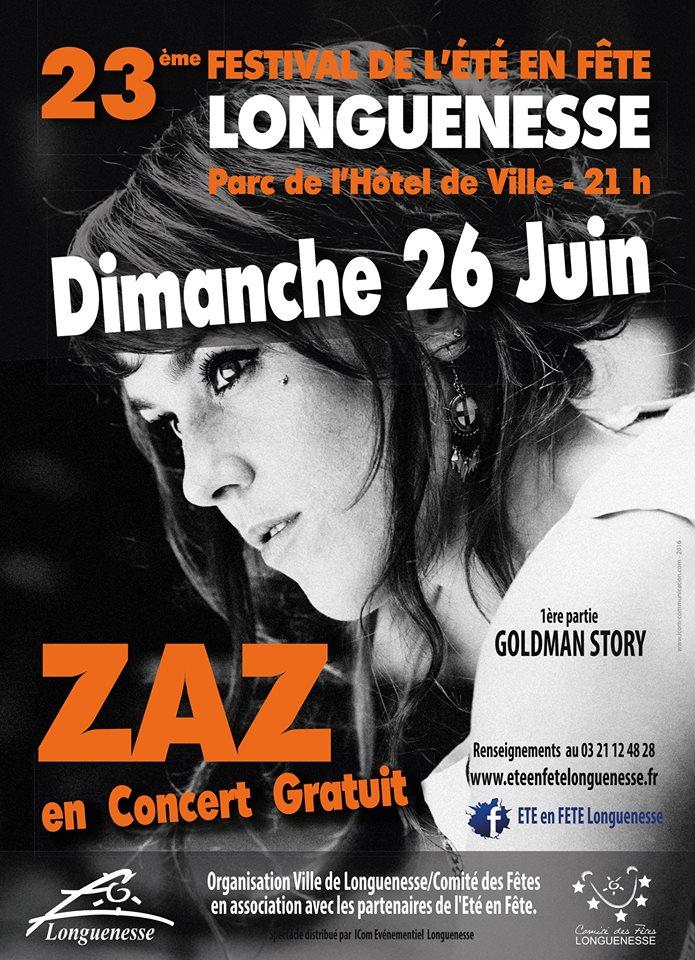 Concert Longuenesse Zaz