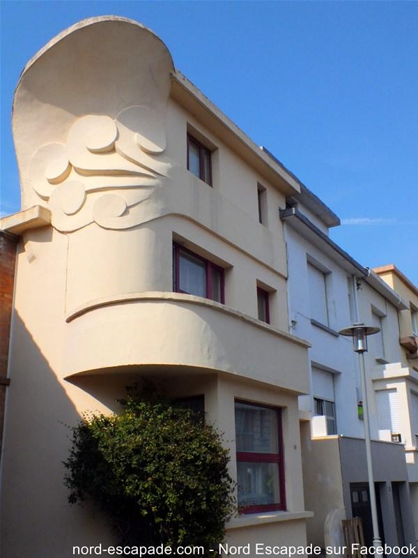 L'une des villas du quartier excentric à Rosendael